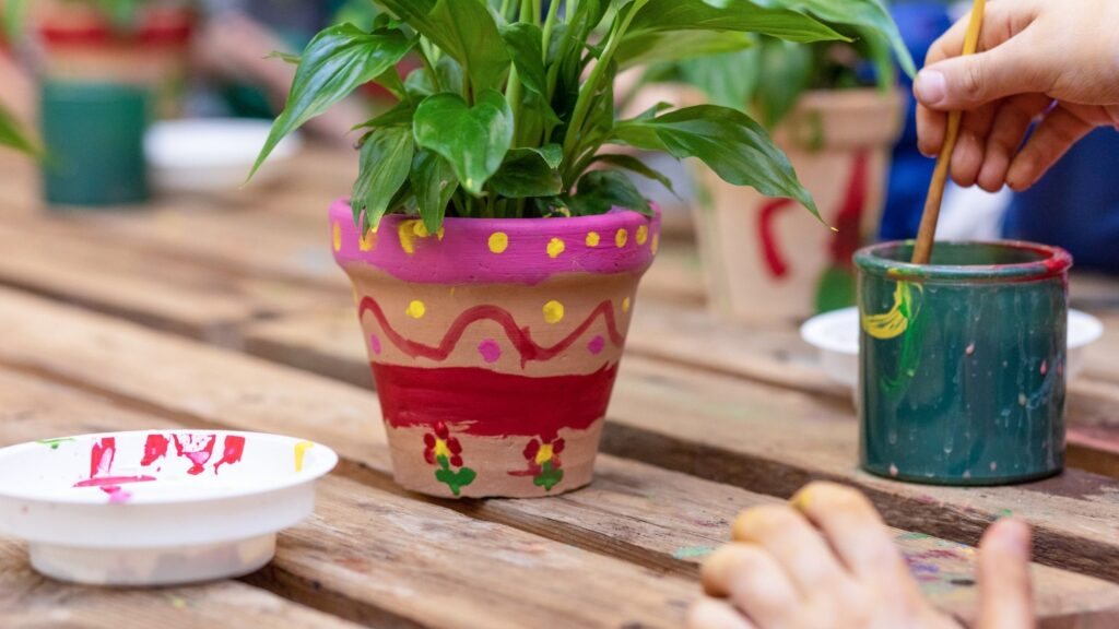 National Children's Gardening Week 2021 - Painting Plant Pots